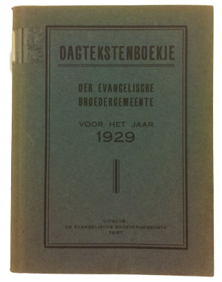 Dagtekstenboekje 1929